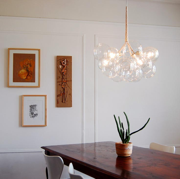 Solaria Bubble Glass Chandelier