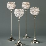 Tall Crystal Candle Holders