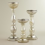 Tall Glass Pillar Candle Holders