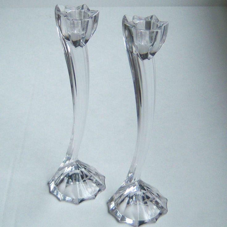 Tall Glass Taper Candle Holders