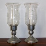 Tall Hurricane Candle Holders