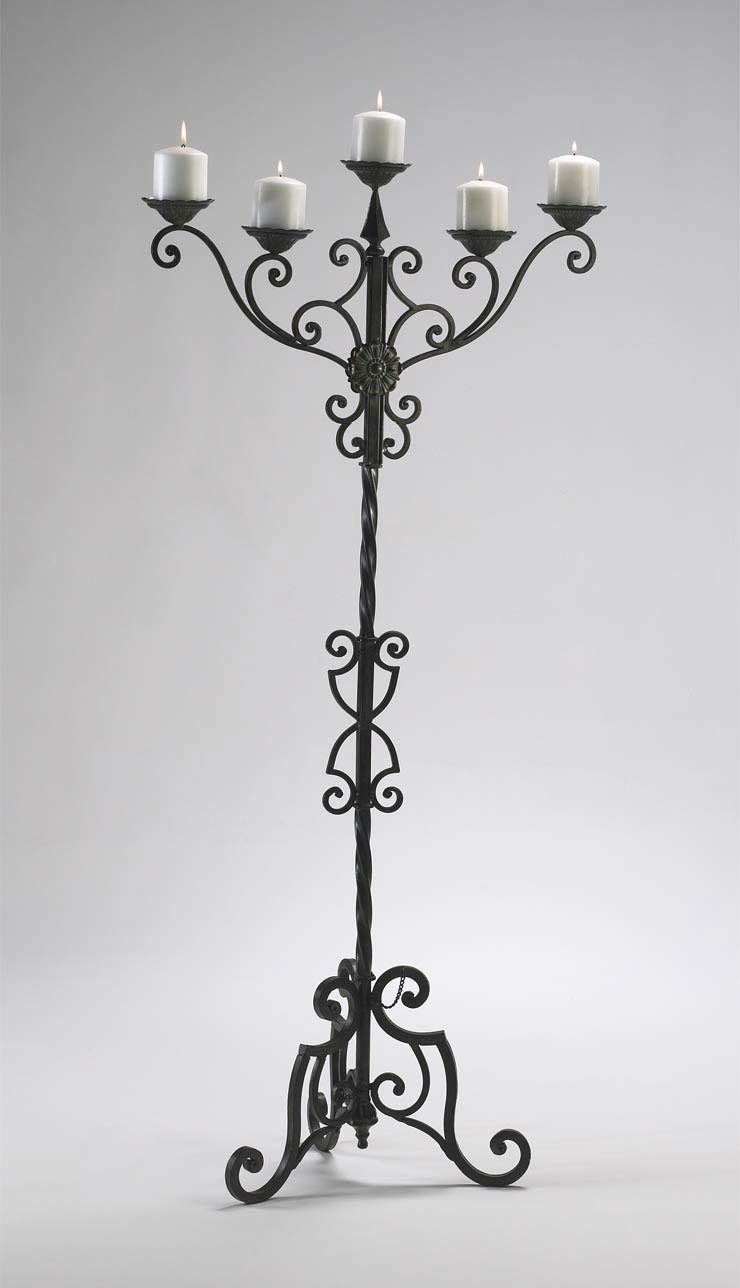 Tall Iron Candle Holders Light Fixtures Design Ideas