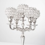Tall Silver Candle Holders