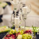 Tall Wine Glass Candle Holders