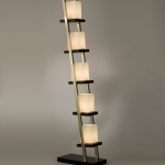 Tripod Floor Lamp with Shelves