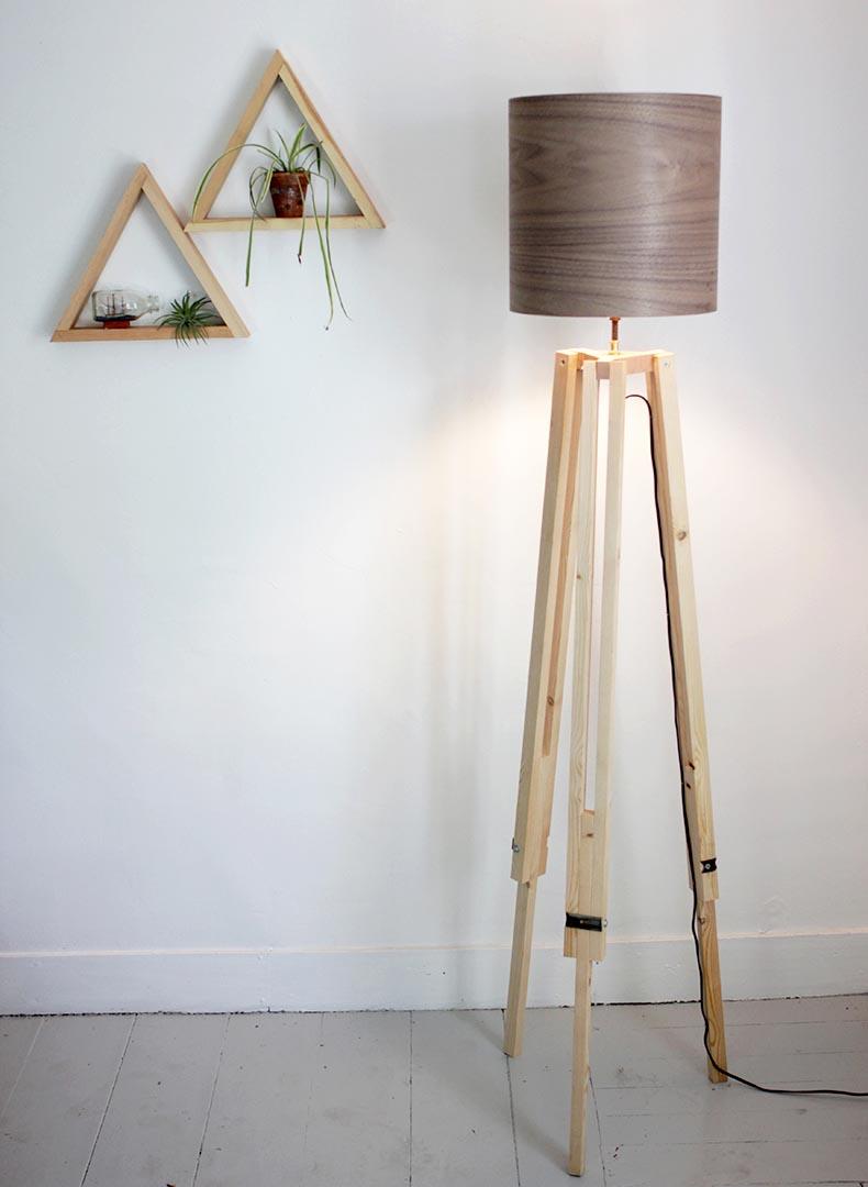 Tripod Floor Lamp Wood
