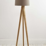 Tripod Floor Lamp Wooden Legs