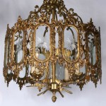 Vintage Antique Brass Chandelier