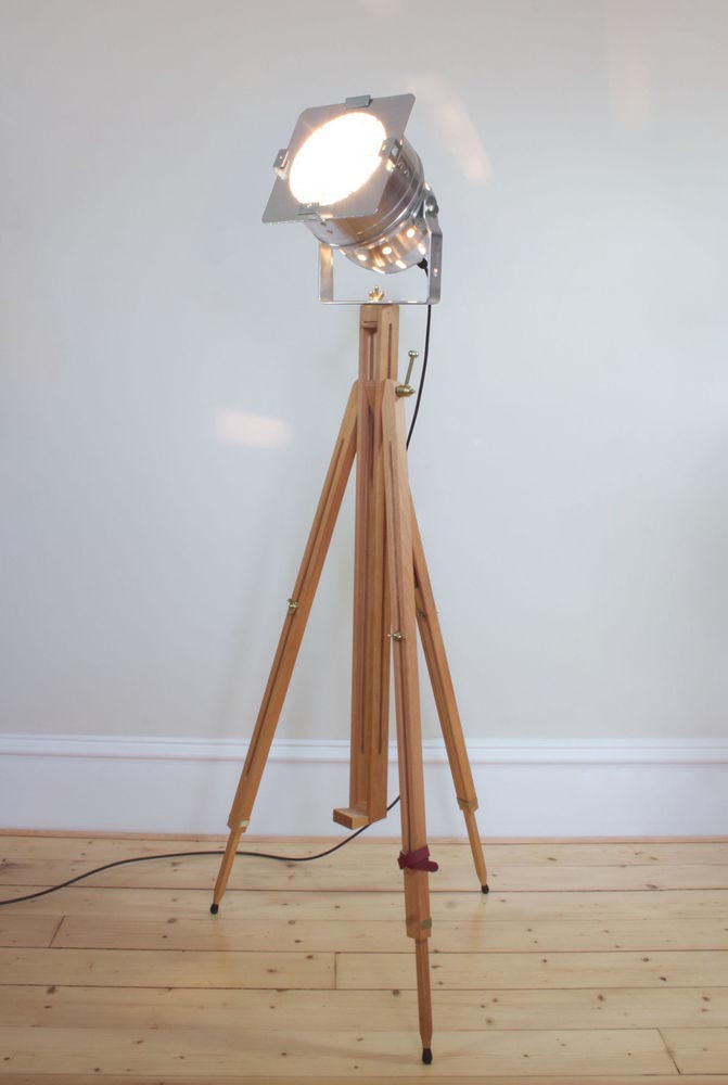 Vintage wooden floor lamp light fixtures design ideas for Make wooden floor lamp