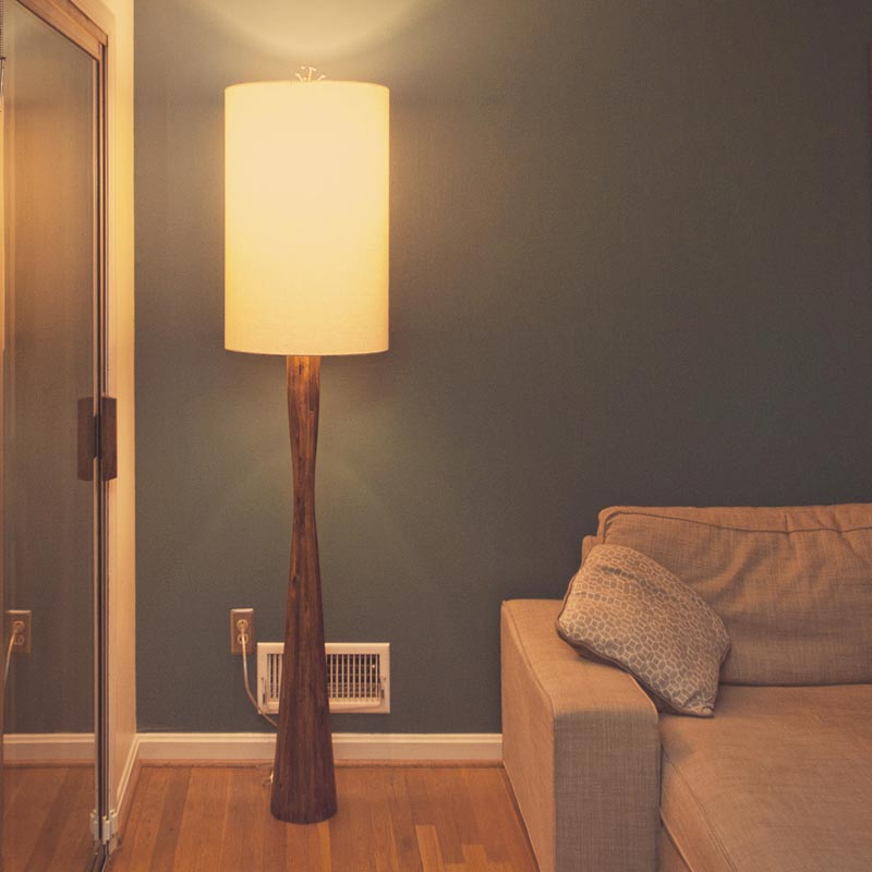 Vintage wooden floor lamps light fixtures design ideas for Make wooden floor lamp