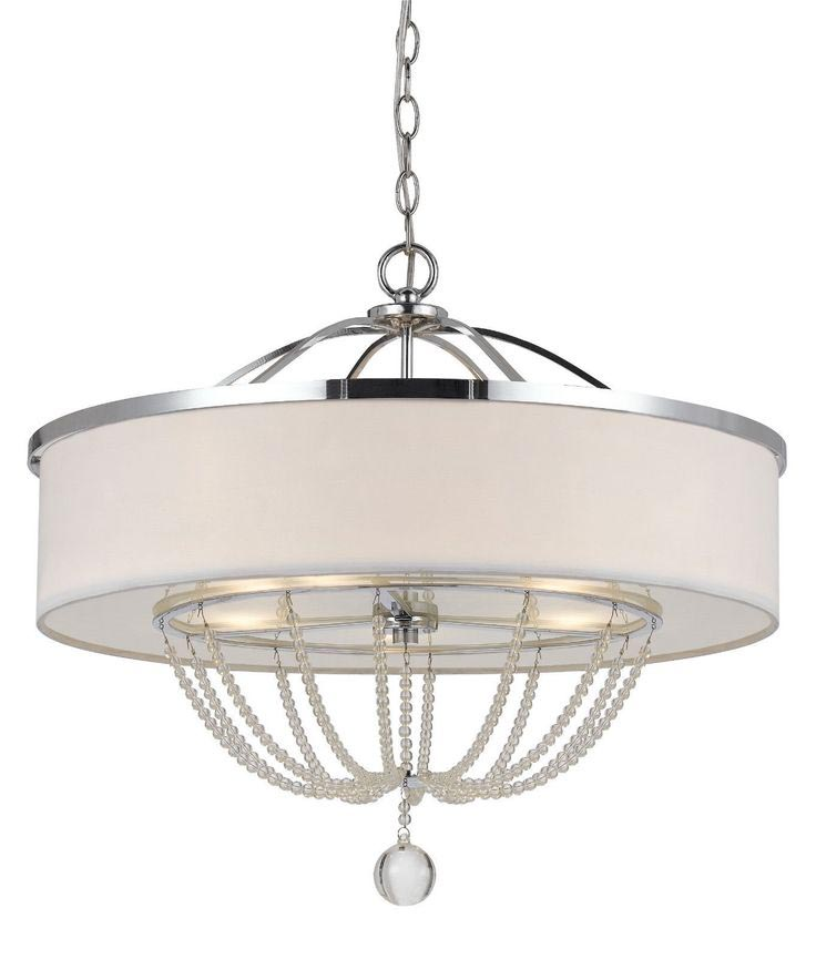 White Drum Light Fixture