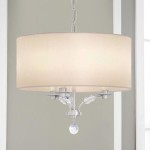 White Drum Shade Chandelier