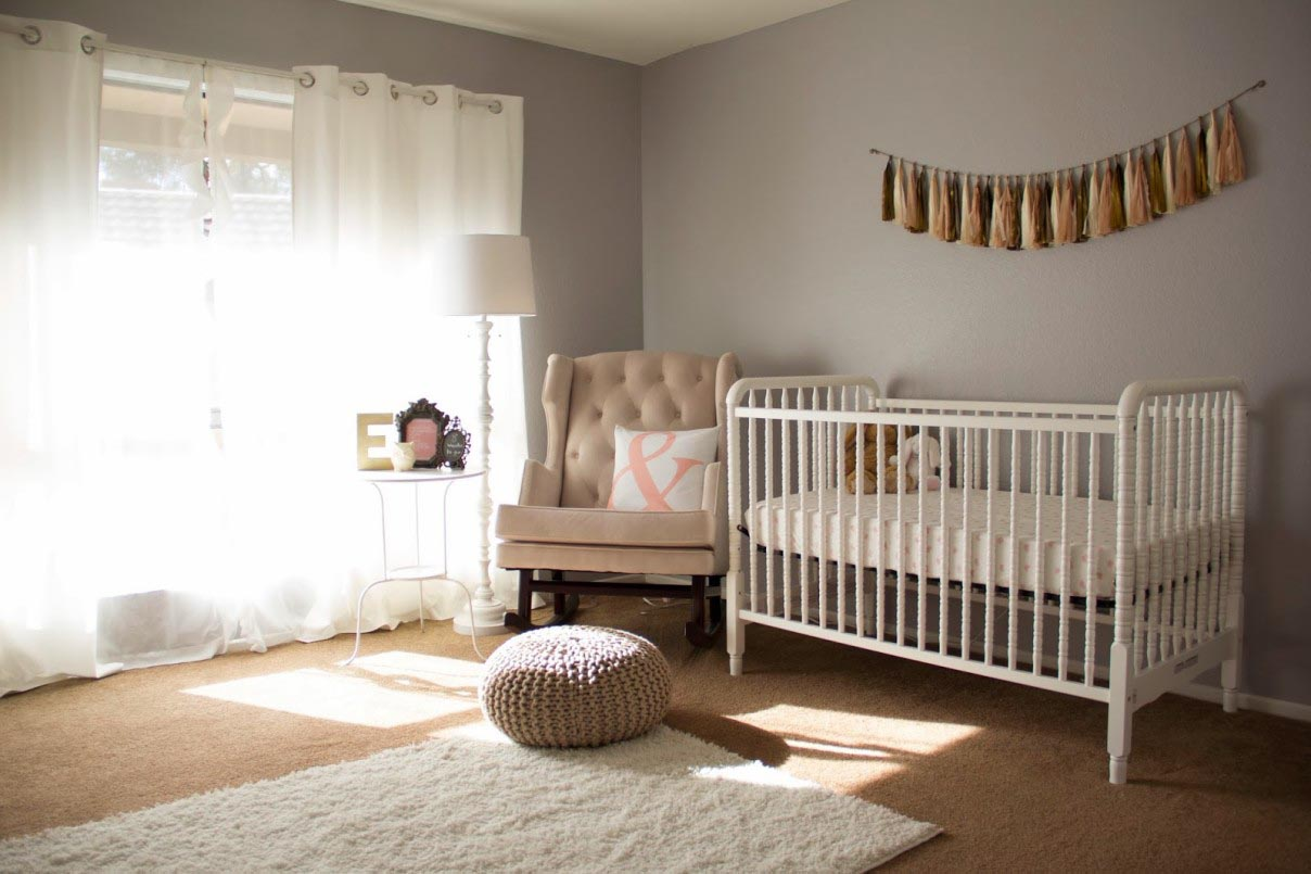 White Floor Lamp Nursery