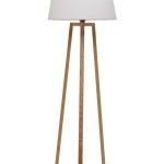 White Wooden Floor Lamp Base