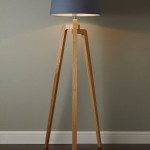 Wood Tripod Floor Lamp