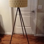 Wooden Base Floor Lamp