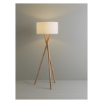 Wooden Tripod Floor Lamps