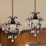 Wrought Iron Crystal Mini Chandelier